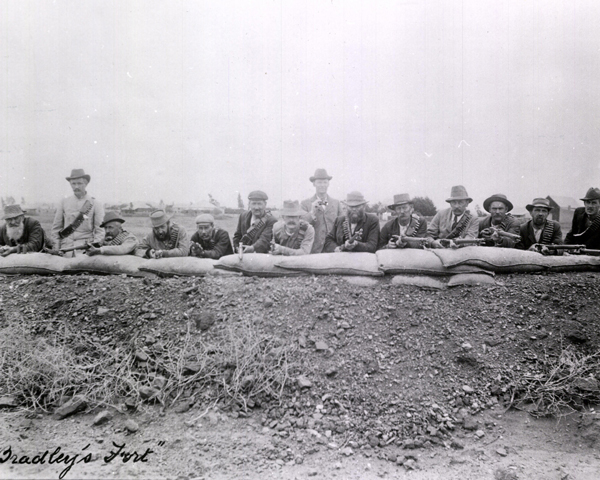 British defenders of Bradley's Fort at Mafeking, 1900