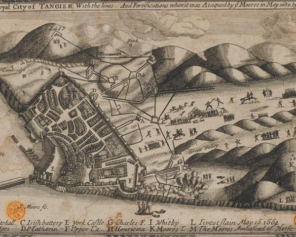 The English garrison at Tangier, 1680