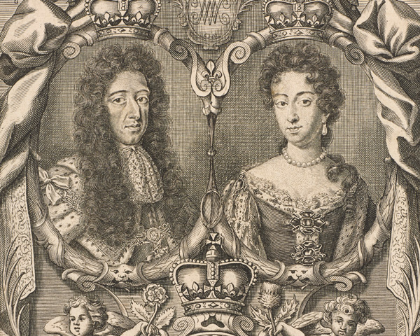 King William III and Queen Mary II, c1690