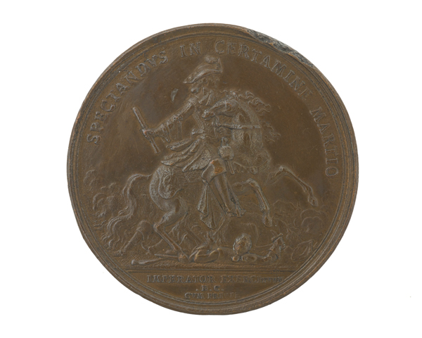 Bronze medal commemorating King William III as Commander-in-Chief, 1697
