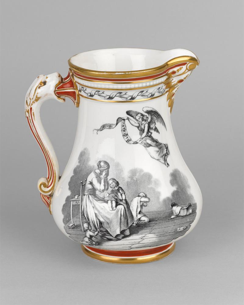 Royal Patriotic Fund jug, Crimean War, 1855