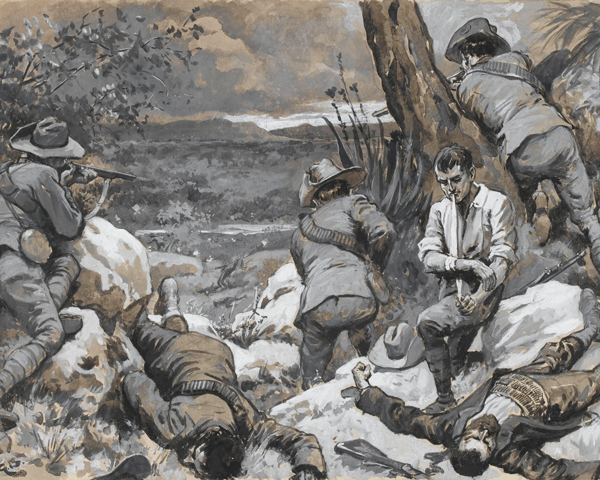 'The Boer Attack on Caesar's Camp: A Hot Corner with the Border Mounted Rifles', 1900
