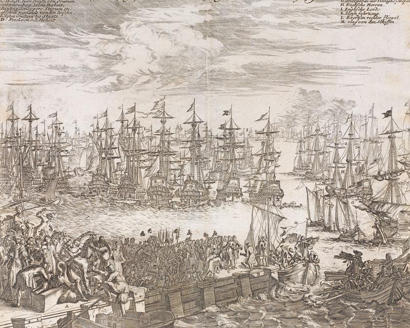 William of Orange's fleet departing for England, 1688