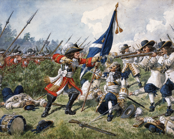 Colonel Sir Robert Douglas and The Royal Regiment at Steenkirk, 24 June 1692