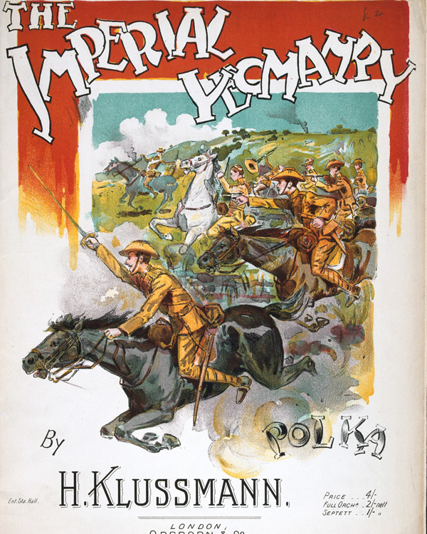 Sheet music, 'The Imperial Yeomanry Polka', by H Klussmann, 1900