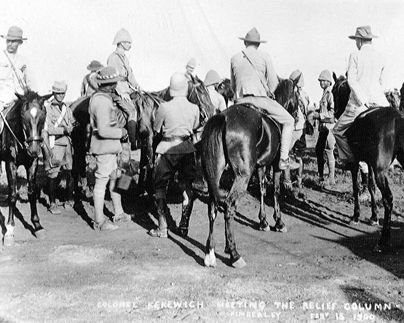 Lieutenant-Colonel Robert Kekewich greeting the relief column, 15 February 1900