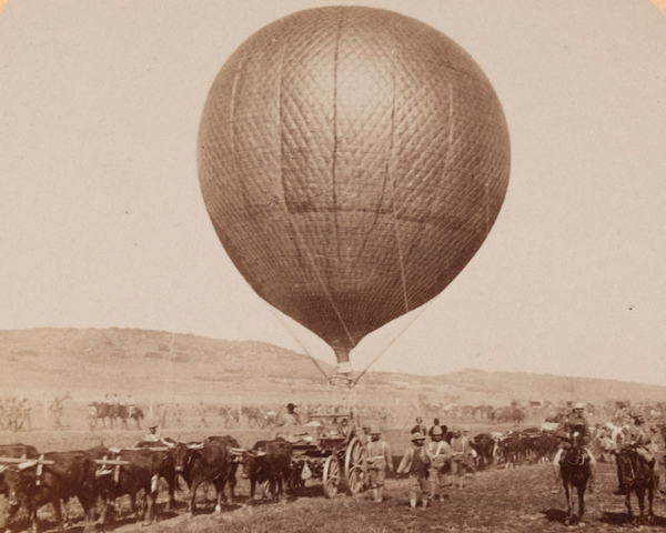 Balloon Corps Transport with Lord Roberts Army - advance on Johannesburg', 1899