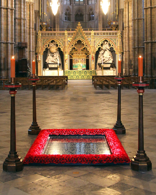 The Unknown Warrior's tomb, Westminster Abbey, 2019