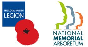 The Royal British Legion and the National Memorial Arboretum logo