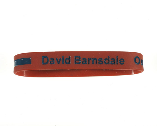 Wristband in memory of Corporal David Barnsdale, 2011