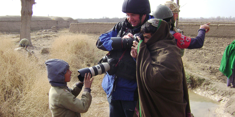 Army photographers in Helmand, Afghanistan