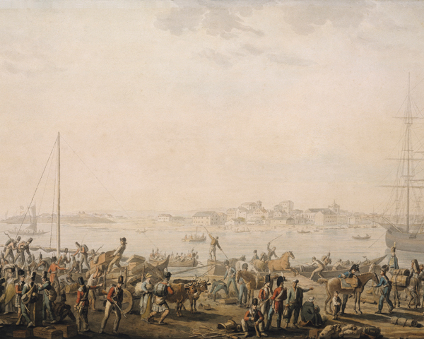 The landing of the British Army at Mondego Bay, August 1808