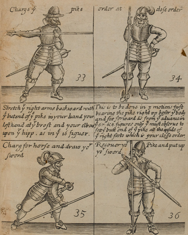 Pike drill from 'The Military Discipline', by Thomas Jenner, 1642