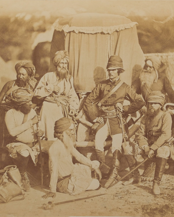 Lieutenant Clifford Mecham and Assistant Surgeon Thomas Anderson, with sowars of Hodson's Horse, 1858