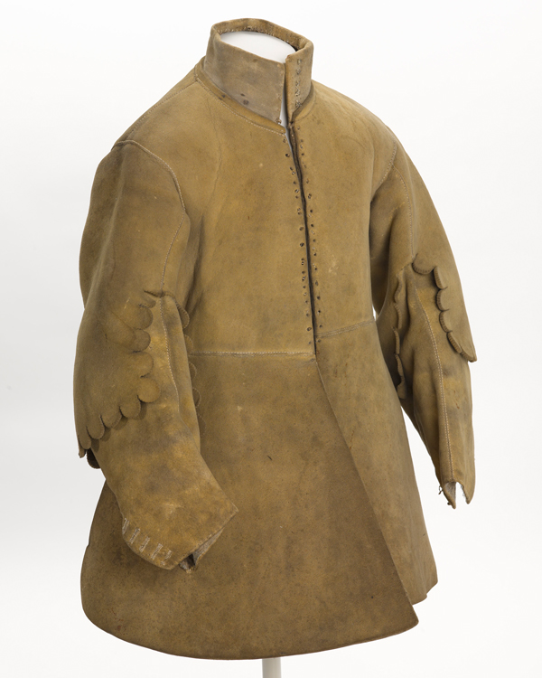 Buff coat worn by Major Thomas Sanders of Sir John Gell's Regiment of Horse, 1640s