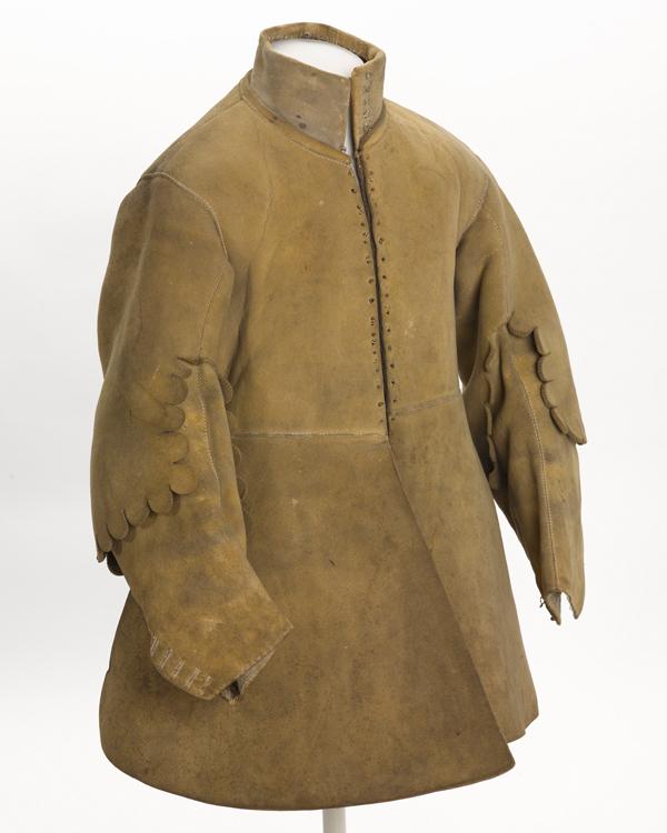 Buff coat worn by Major Thomas Sanders of Sir John Gell's Regiment of Horse, 1640s