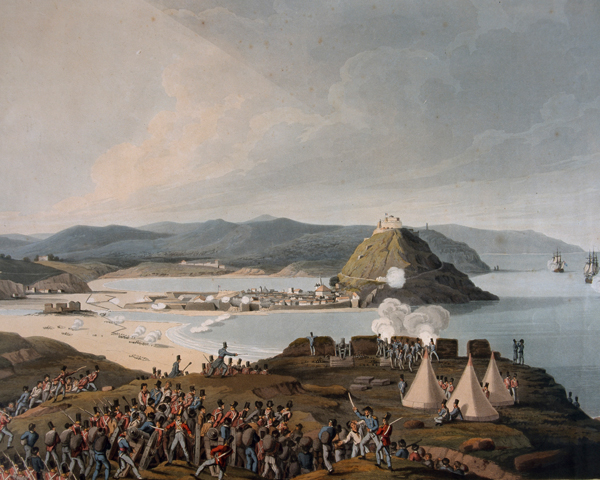Storming the town and castle of St Sebastian, September 1813