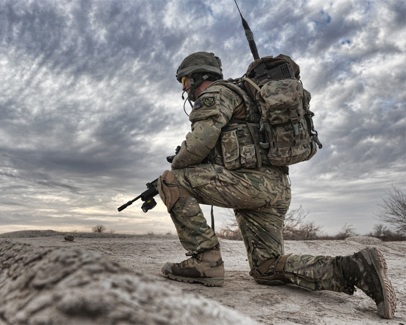 A soldier from 2nd Battalion The Parachute Regiment at Char Coucha, Afghanistan, 2011