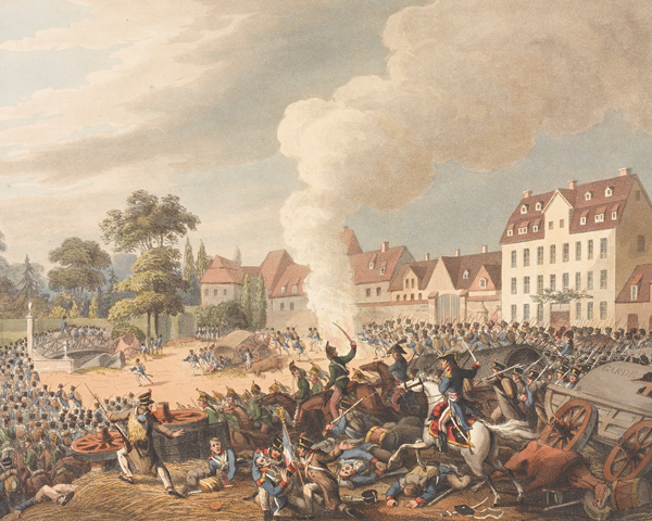 Pursuit of the French through Leipzig, 19 October 1813