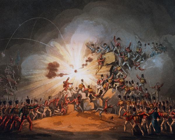 The storming of Ciudad Rodrigo, 19 January 1812