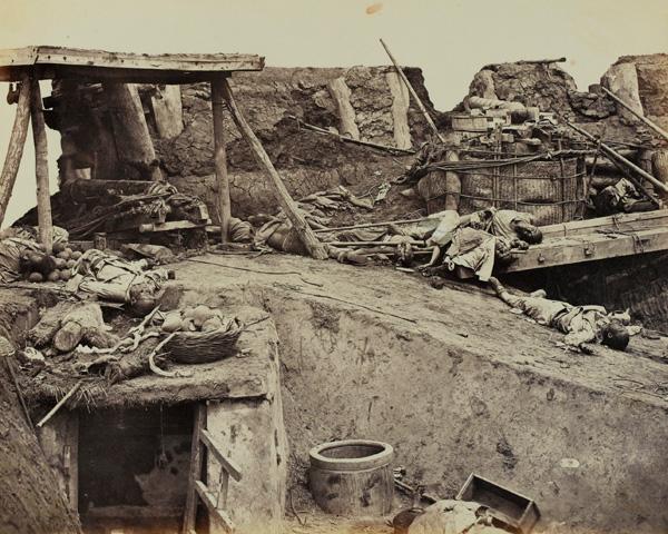 Interior of the Taku Fort, China, 1860