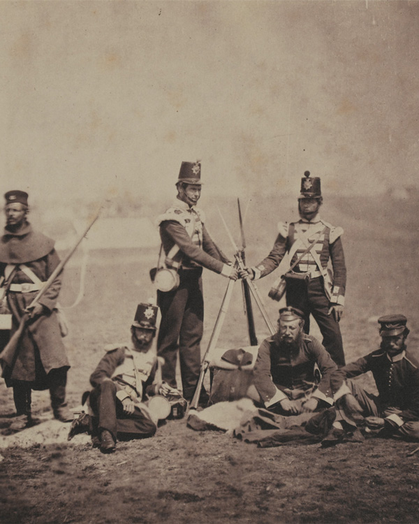 Officers and men of the 3rd (East Kent) Regiment of Foot (The Buffs), in the Crimea, 1855