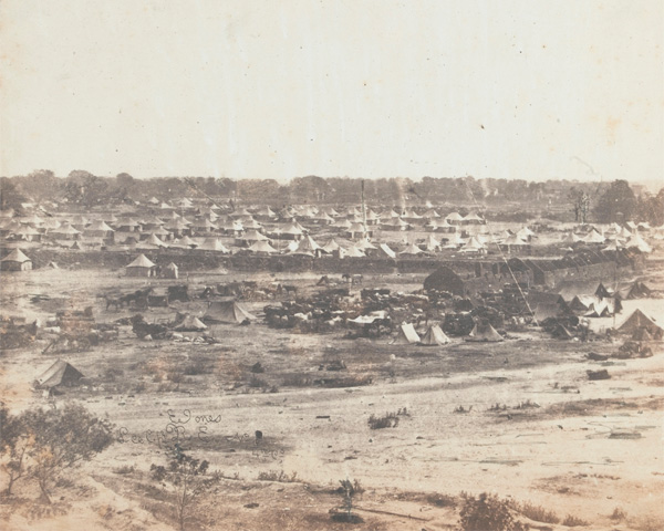 Part of General Sir James Outram's camp at Lucknow, 1858