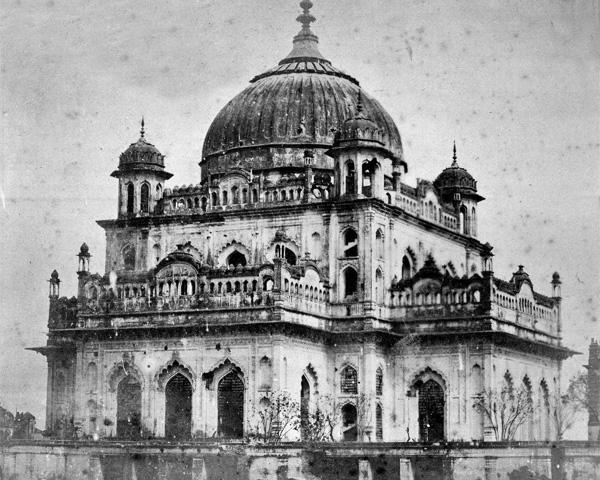 Nawab Ali Khan's mausoleum, Lucknow, 1858