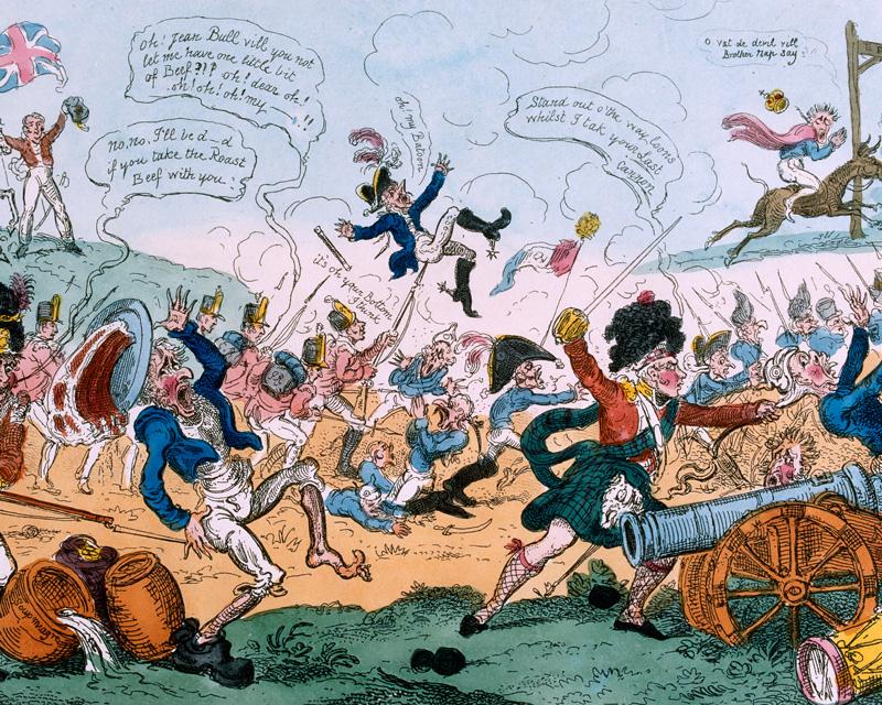 A contemporary cartoon celebrating the Battle of Vitoria, 1813