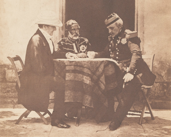 Lord Raglan, Marshal Pélissier and Omar Pasha on the morning of the taking of Mamelon, 7 June 1855
