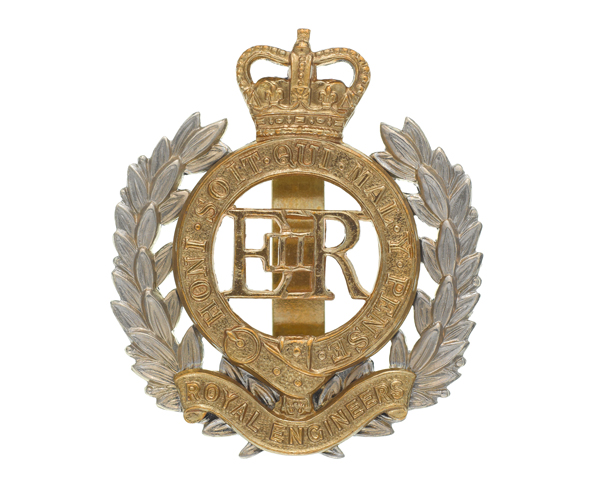 Cap badge, Royal Engineers, c1940