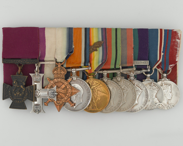 VC group awarded to Brigadier Alfred Toye, The Middlesex Regiment (Duke of Cambridge's Own)