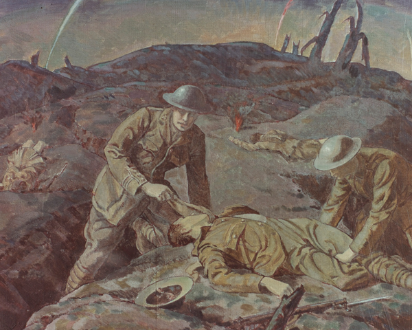 Captain Noel Chavasse VC, Royal Army Medical Corps, at Passchendaele, 1917