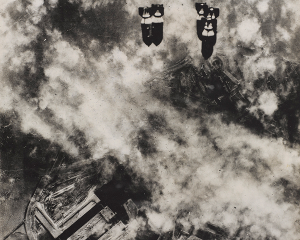 The 8th United States Army Air Force (USAAF) bombing the German port of Wilhelmshaven, 27 January 1943