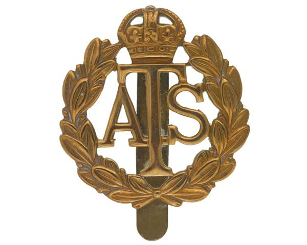 Cap badge, Major Eleanor Joan White, Auxiliary Territorial Service, c1940s