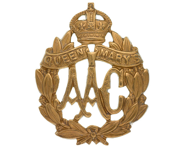 Cap badge, Queen Mary's Army Auxiliary Corps, 1918-20