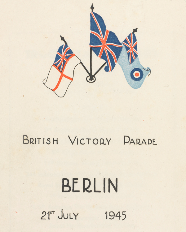 Programme for the Berlin Victory Parade, 21 July 1945