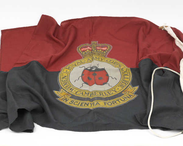 Flag of the Women's Royal Army Corps College, Camberley, c1984