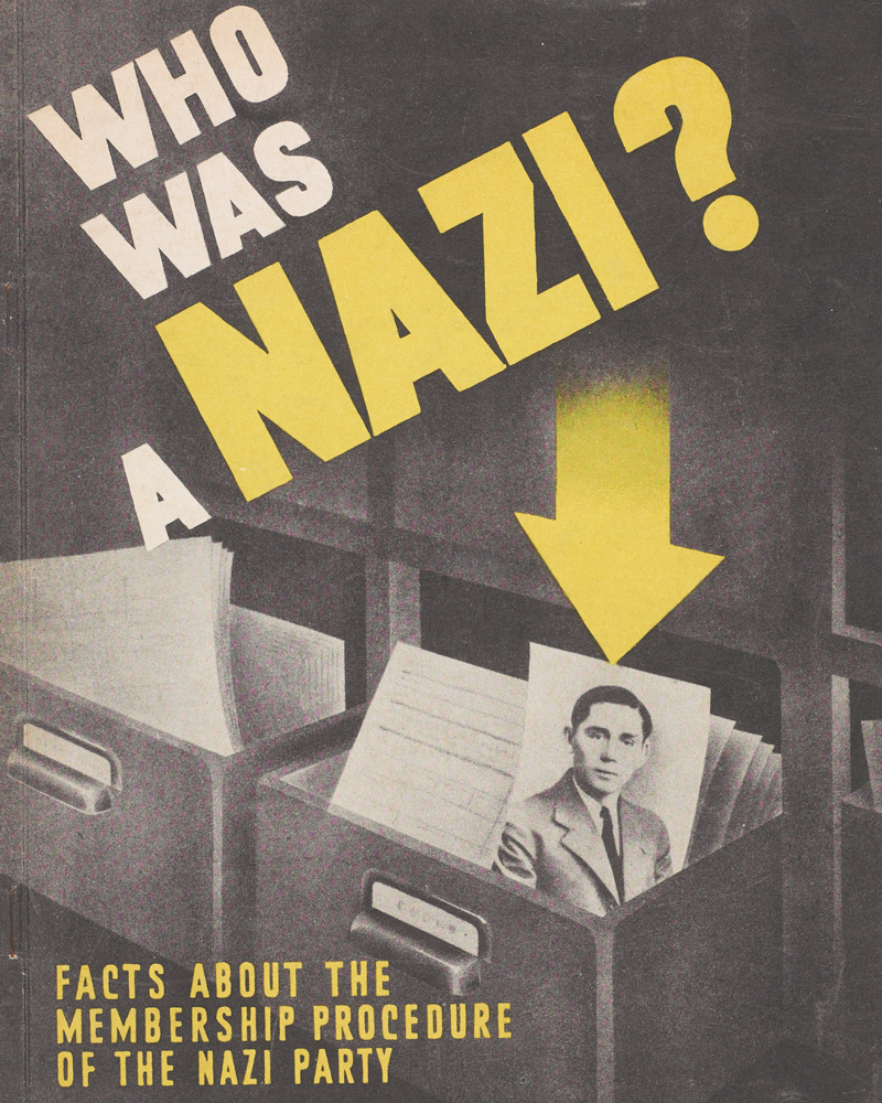 Information pamphlet about the Nazi Party used by British investigators, 1948