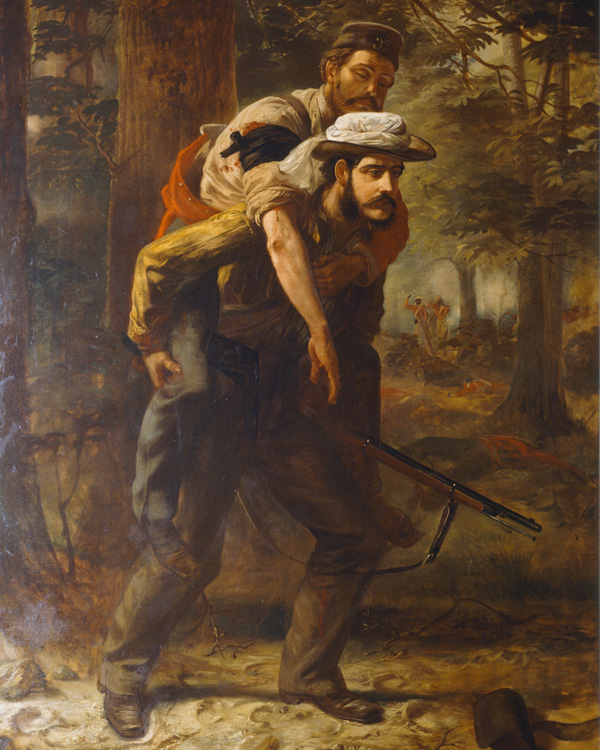 Assistant Magistrate Ross Lowis Mangles, Bengal Civil Service, winning the VC during the Indian Mutiny, 1857