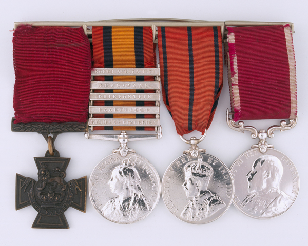 Victoria Cross group awarded to Gunner Isaac Lodge, 'Q' Battery, Royal Horse Artillery, 1900