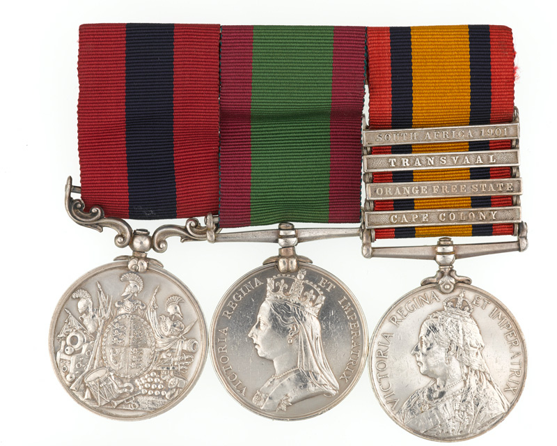 Medal group awarded to Battery Sergeant Major W Smith, Royal Artillery and Elswick Battery, 1st Northumberland Artillery Volunteers, 1878-1901