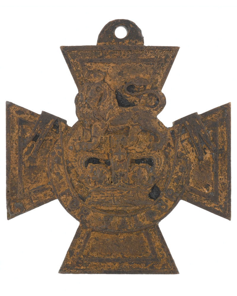 Crimean War Victoria Cross recovered from the foreshore of the River Thames, c1856