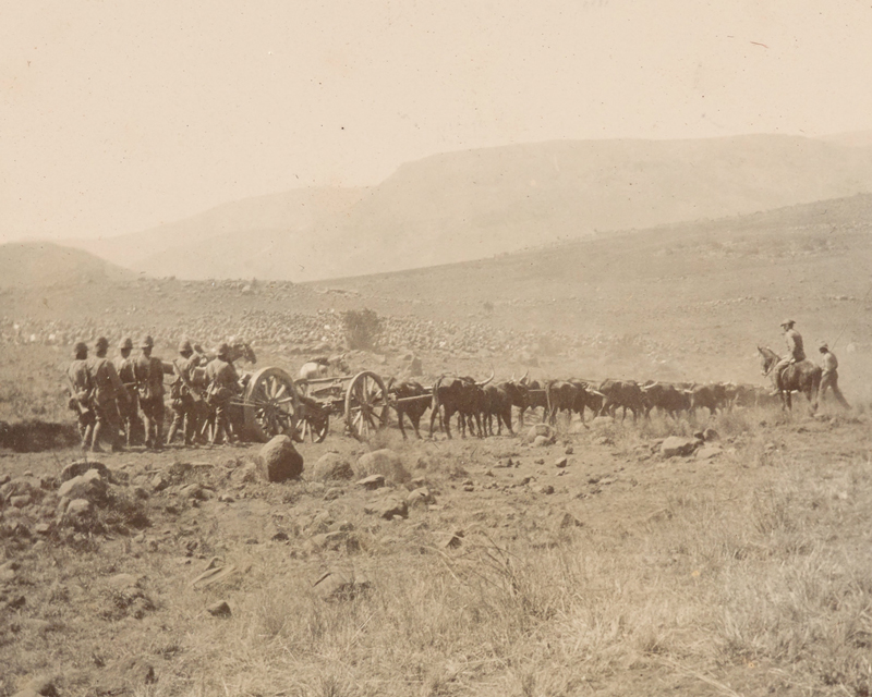 A gun of the Elswick Battery during the advance from Lydenburg to Watervalonder, 1900