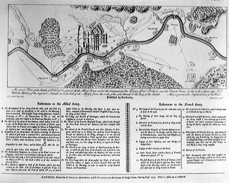'Exact plan of the Battle of Dettingen', 27 June 1743
