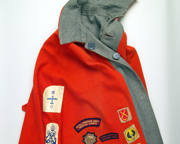 Cape worn by QARANC nurse Lieutenant Georgina Johnstone in Korea, c1953