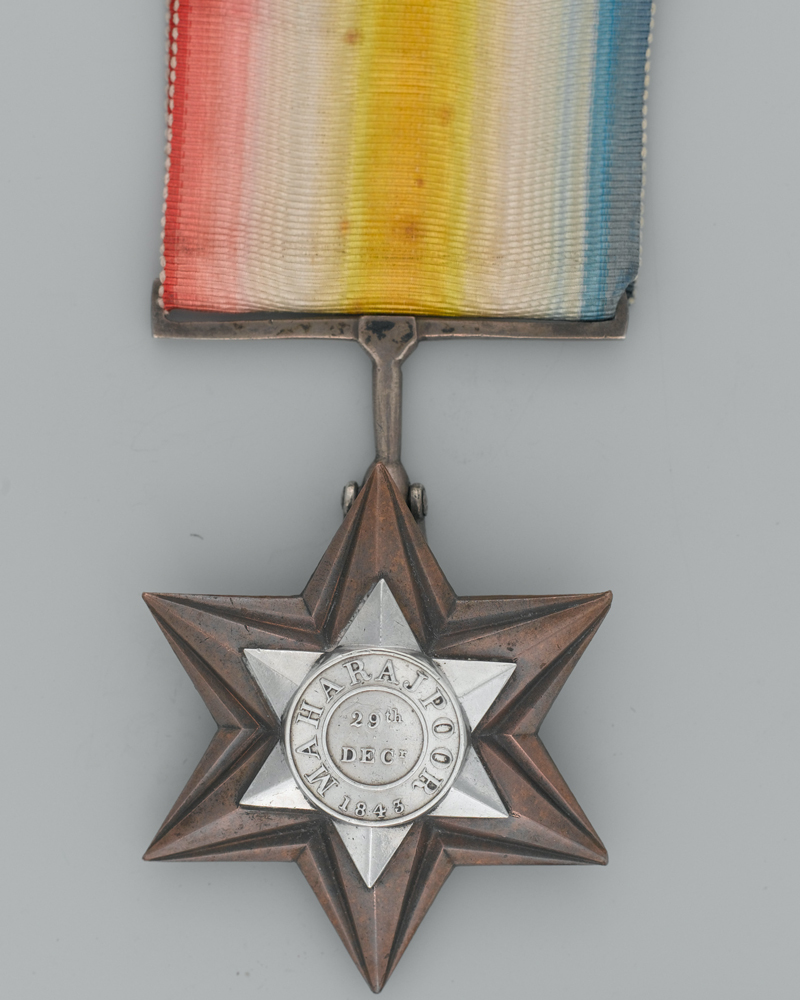 Gwalior Star awarded to Private Michael Ketrick, 40th (2nd Somersetshire) Regiment of Foot, 1843