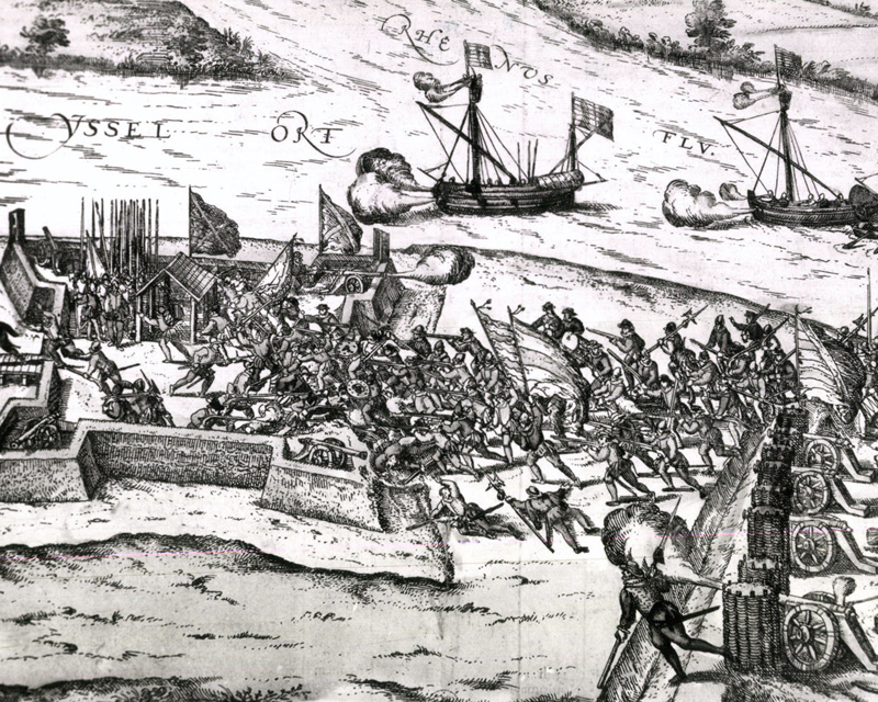 The taking of IJsseloord redoubt, 1585