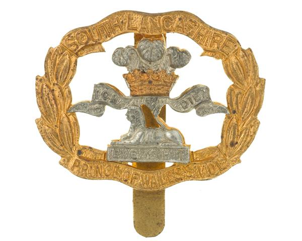 Beret badge, The South Lancashire Regiment, c1950