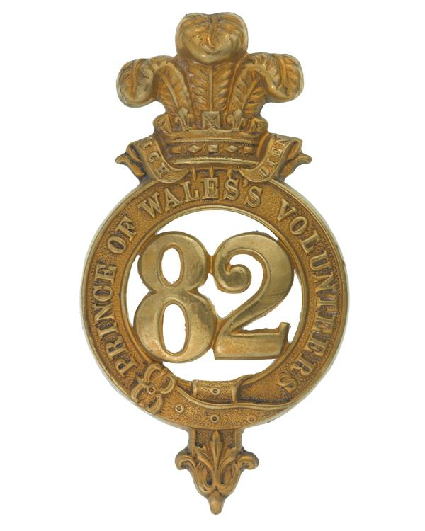 Glengarry badge, 82nd Regiment of Foot (Prince of Wales's Volunteers), c1874